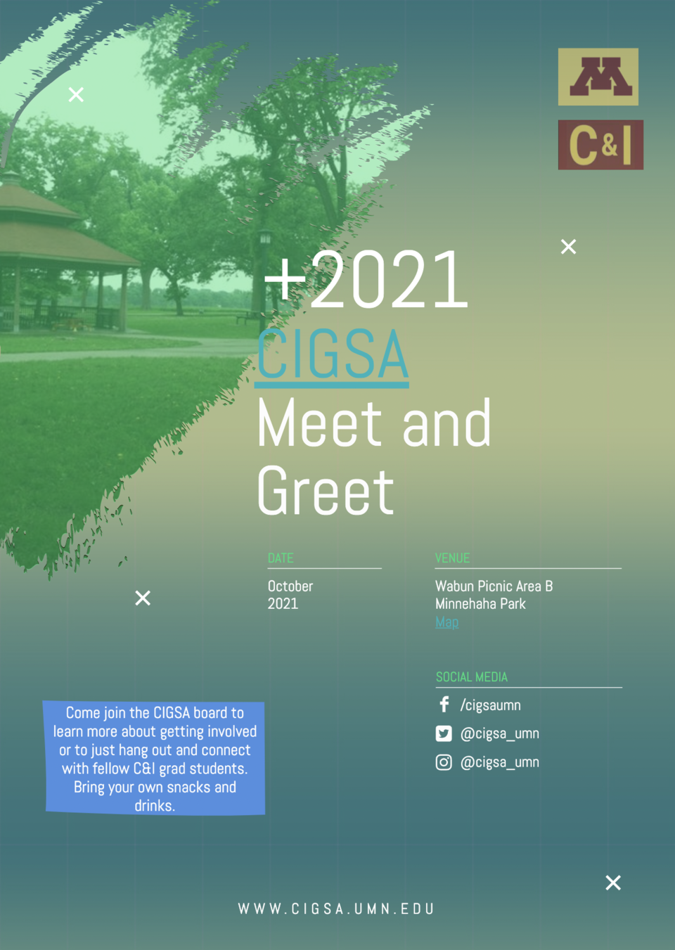 Poster for CIGSA Fall Meet and Greet